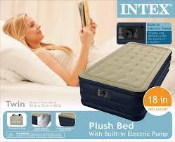 intex plush twin air mattress with built in pump