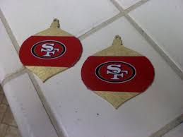 i made my own sf 49ers ornaments diy tree and gold