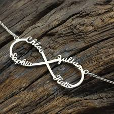 Necklace With Name Aliexpress Com Buy Personalized Infinity Necklace With Names