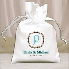 custom favor bags bridal bags personalized drawstring favor bags with classic monogram