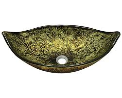 643 colored glass vessel sink