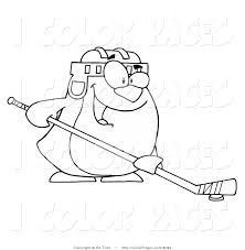 royalty free ice hockey stock coloring page designs