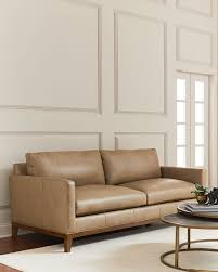 Leather Sofa Beige Eben Leather Sofa
