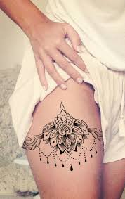 female thigh tattoos the 25 best chandelier tattoo ideas on pinterest lotus mandala
