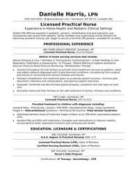 Example Of A Nursing Resume by Licensed Vocational Nurse Lvn Resume Sample Resume Examples