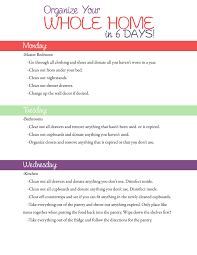 how to organize your whole home in 6 days with a free printable