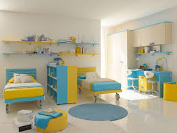 tuscan yellow kids room beautiful blue yellow wood glass luxury design