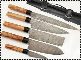 Custom Japanese Kitchen Knives Amazon Com G15 5 Pcs Professional Kitchen Knives Custom Made