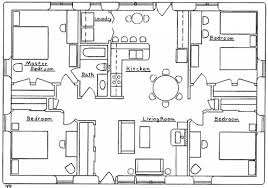 four bedroom houses four bedroom bungalow house plans stupendous style square five two