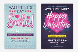 flyer graphic design layout 2 valentine s day flyer design layout t design bundles