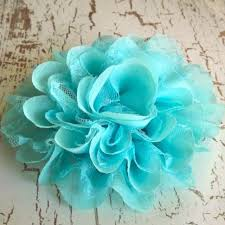 turquoise flowers 5 chiffon lace flower sapphire turquoise from