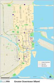 Greater Orlando Area Map by Miami Downtown Map