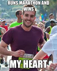 Running Marathon Meme - wins my heart ridiculously photogenic guy zeddie little know