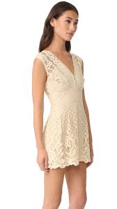 free people one million lovers lace mini dress ivory women