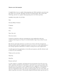 Examples Of Follow Up Letters After Sending Resume Cover Letter Cover Letter Sample Monster Cover Letter Samples