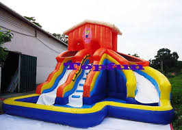 kids inflatable water slide waterproof backyard bounce house