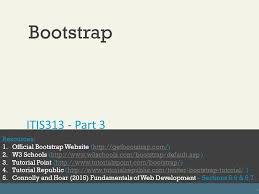 bootstrap tutorial tutorialspoint fundamentals of web developmentrandy connolly and ricardo hoar