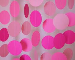 pink birthday decorations pink paper garland s