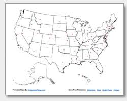 united states map blank with outline of states printable united states maps outline and capitals