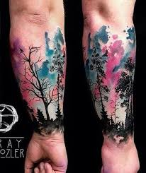 spectacular watercolor tattoos and how to create them inkdoneright