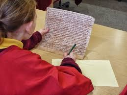tudor writing paper a leap in the park apprentice scribes in tudor times we hope to take another class to the archives soon so if you are at a primary school in lancashire studying the tudors this term get in touch