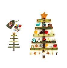deluxe felt heirloom jesse tree advent ornament and tree set
