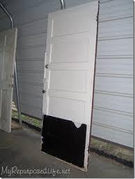 repurposed door headboard