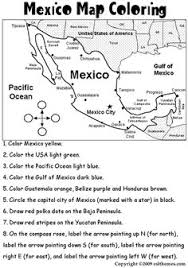 mexico coloring page a printable map of mexico labeled with the names of each mexican