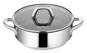 une sauteuse cuisine lagostina q9657124 sauteuse à anses avec couvercle transparent