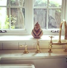 Kitchen Faucet Brass Easton Bridge Gooseneck Kitchen Faucet With Metal Cross Handles