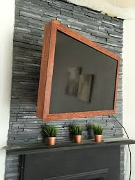 Fireplace Mantels For Tv by Diy 40 Wood Tv Frame Works For Tvs That Tilt And Rotate Too
