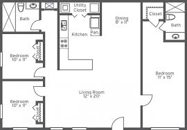 apartments 1 story 3 bedroom 2 bath house plans bedroom bath