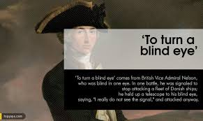 Turn A Blind Eye 20 Common Words U0026 Phrases And Their Interesting Origins Shown