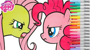 my little pony coloring book pages fluttershy pinkie pie mlp
