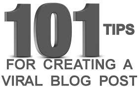 tips for creating viral blog posts