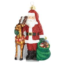santa and reindeer ornament 2016 ornament by reed and