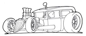 free drawing rod car print color kids