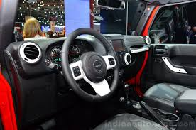 interior jeep wrangler jeep wrangler unlimited x interior at the paris motor show 2014