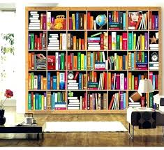wallpaper that looks like bookshelves bookcase wallpaper mistere info