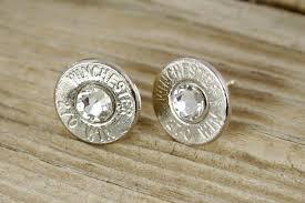 bullet stud earrings custom earrings bullet earrings winchester 270 nickel