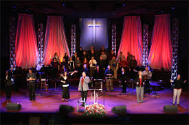 Church Stage Christmas Decorations Red Waterfalls Church Stage Design Ideas