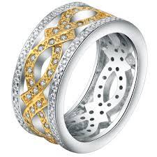 aliexpress buy nyuk gold rings bling gem online buy wholesale men gold finger ring designs from