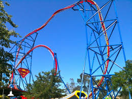 Six Flags Roller Coasters List Superman Ultimate Flight At Six Flags Discovery Kingdom Crazy