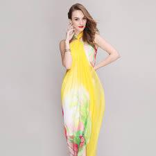 desigual designer desigual muslim scarf designer brand yellow tulip silk