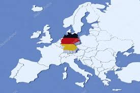 germany europe map europe map 3d relief germany flag colors stock photo albasu