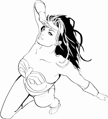 wonder woman clipart colouring page clipartfest coloring home