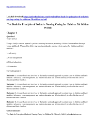 download principles of pediatric nursing caring for children 5th