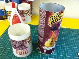 pringles tube cut with card insert art cabin u0027s blog