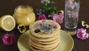 Homemade Flowers Pancake Stories Pancakes With Edible Flowers And Homemade Lemon Curd