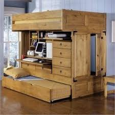 trundle bed with desk foter